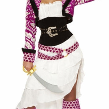 Sexy Strapless Deluxe Pirate Mistress Halloween Costume