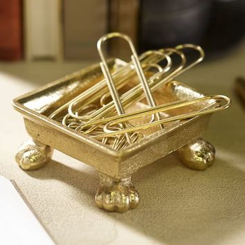 The Emily + Meritt Gold Cat Feet Lifted Tray
