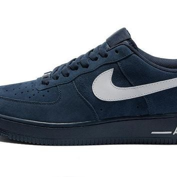 PEAPON Nike Air Force 1 Low Blue For Women Men Running Sport Casual Shoes Sneakers