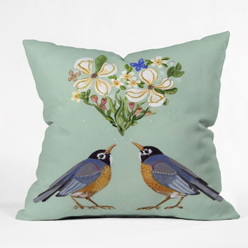 Land Of Lulu Spring Song Throw Pillow