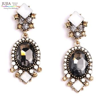 Wholesale high quality 2017 New statement crystal stud Earring for women girl party statement earrings jewelry