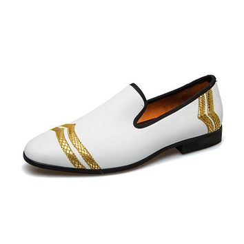 Men Luxury Handmade Loafers Men Shoes Luxury White Casual Shoes