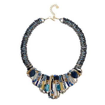 Embellished Crystal Mosaic Collar Necklace
