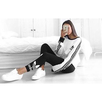"""Adidas"" Women Fashion Top Sweater Pullover Sweatshirt H"