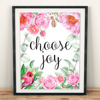 joy poster joy Wall Art joy wall decor teen girl room decor scripture decor dorm room wall gifts scripture quotes art print joy quote
