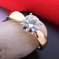 1.2ct rose gold Plated CZ diamond rings