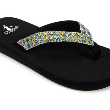 Corkys Golden Multi Flip Flops