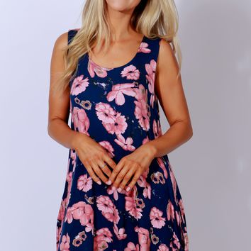 Poppy See Poppy Do Floral Dress Navy