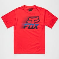 Fox Levitate Boys T-Shirt Red  In Sizes