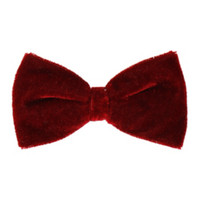 Burgundy Velvet Hair Bow