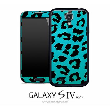 Turquoise Leopard Skin for the Galaxy S4
