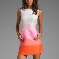 Diane von Furstenberg Carpreena Two Grad Stripe JDC Dress in Pink Multi from REVOLVEclothing.com