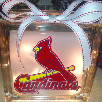 MLB Baseball Lighted Glass Block and Home Glass Decor and Gifts