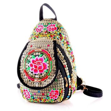 Chinese Style Summer Fashion Handmade Flowers Travel Bags