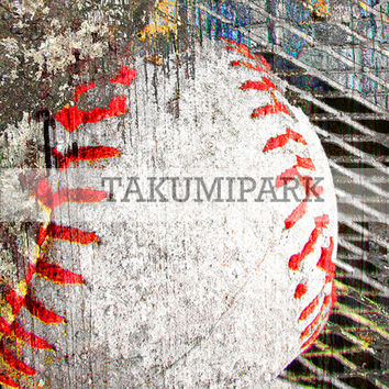 Modern Baseball Wall Art, Mancave Room Decor, Bedroom Wall Art, Gift Idea For Basetball Coach, Sports Decor, Photo Print, Baseball Art