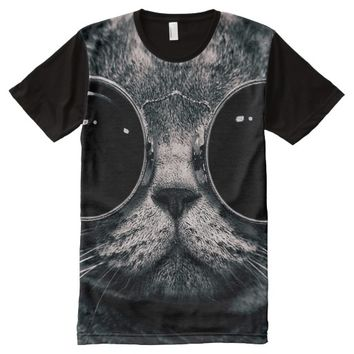 Animal Face All-Over Print T-shirt