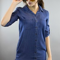 Dex | Denim Daze Button Up Tunic