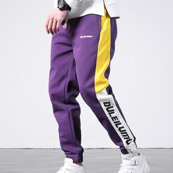 Mens Casual Skinny Two Color side Stripe Sweatpant Joggers