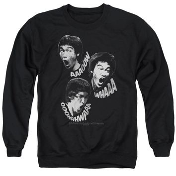 Bruce Lee - Sounds Of The Dragon Adult Crewneck Sweatshirt