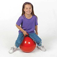 "Hopping Ball 15"" - Gym Ball, Sport Ball, Bounce Ball, Hoppity, Hop Ball,Red or Blue"