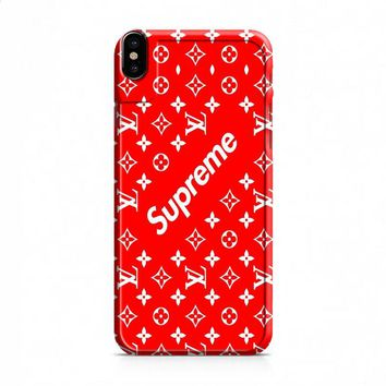 louis vuitton Supreme red iPhone X case