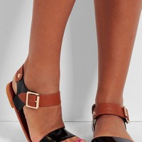 Servilia Black & Tan Designer Inspired Sandals | Pink Boutique