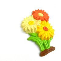 Vintage Daisy Wall Hanging, Floral Chalkware Daisies, 60s Flower  Power Art