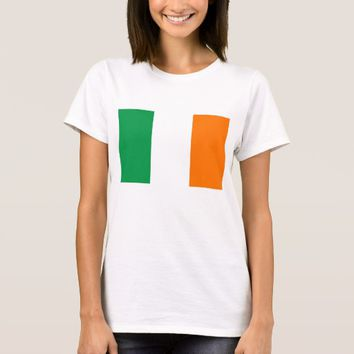 Women T Shirt with Flag of Ireland