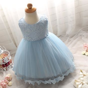 New 2017 Summer Toddler Infant Baby Girl Dress Christening Baptism Pageant Party Wedding Ball Gown For Newborn Baby Kids Clothes