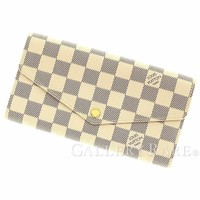 LOUIS VUITTON Portefeuille Sarah Damier Azur Wallet N63208 Authentic 4667988