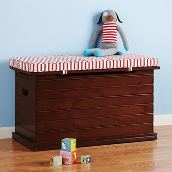 Kids Wooden Beadboard Toy Box in Toy Boxes & Bins | The Land of Nod