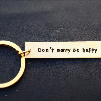 Custom Keychain, The DOTA role quote personalized keychain,Rhasta quote, Golden key chain, Hand Stamped - Personalized,Geek key chain