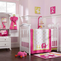 Safari Brights 4 Piece Baby Crib Bedding Set by Carters Image - carc610bed - Type 5