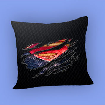 Clark kent Ripped Torn cloth for Pillow Case, Pillow Cover, Custom Pillow Case **
