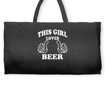 This Girl Loves Beer Weekender Totes