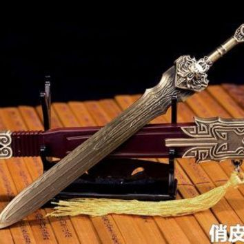 1/6 Scale Ancient Weapon Sword Model With Stand Collection Toy For 12 inches Action Figure