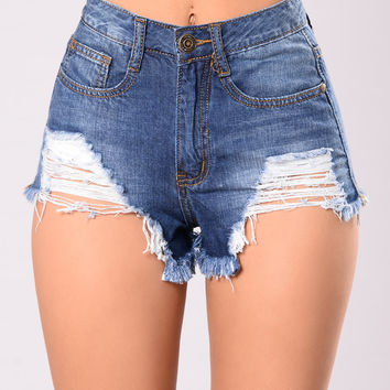 Can't Knock Me Down Shorts - Dark
