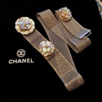 Chanel Chain Belt With Pearl Spraying