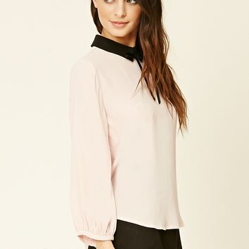 Collared Tie-Neck Top