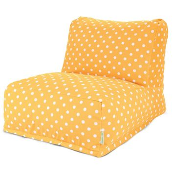 Citrus Ikat Dot Bean Bag Chair Lounger