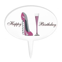 Stiletto Shoe Art Cake Toppers