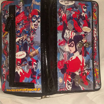 Classic Harley Quinn Large Split Pocket wallet