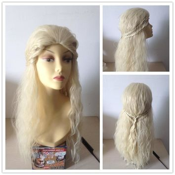 Daenerys Targaryen Headwear Synthetic Hair Long Wavy  Game of Thrones Cosplay Hair Party Headwear Accessories