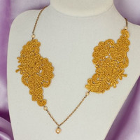 BRIA - Golden Lace Necklace in Bronze