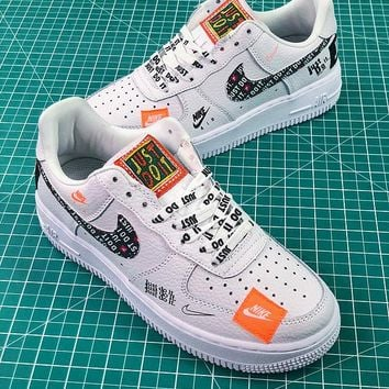 2a66063e370d3 Nike Air Force 1 AF1 Low Custom Just Do It 905345-500 SL YS Whit