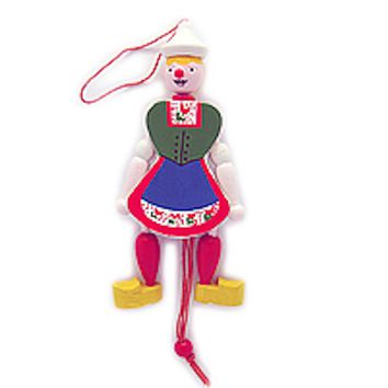 Dutch Gift Jumping Jack Toy Girl