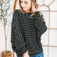 Show-Stopping Striped Knitted Top