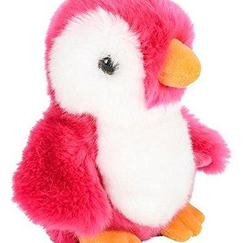 "Wildlife Tree 8"" Stuffed Pink Penguin Plush Floppy Animal Heirloom Neon Collection"