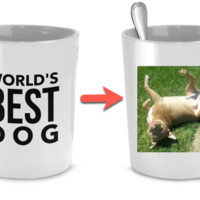 Personalized mug with picture of your dog