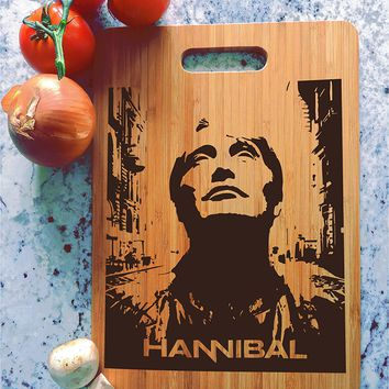 ikb610 Personalized Cutting Board Hannibal TV series fan gift
